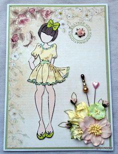konfirmationskort pige julie nutting stempel