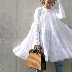 Bohemian White Dress Women Vintage Long Sleeve Mini Dress 2020 Summer Beach Sundress Casual Loose Vestidos Plus Size Pakistani Dresses Casual, Pakistani Dress Design, Stylish Dresses, Casual Dresses, Fashion Dresses, Floral Dresses, Backless Long Dress, Vestidos Plus Size, Mode Jeans