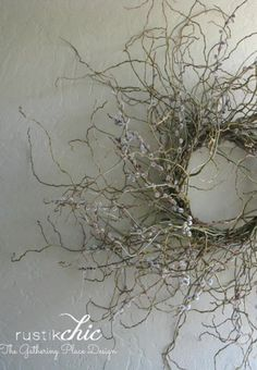 Twisted willow twig wreath!                              …