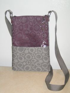 Two Toned Raspberry/Grey Placemat Satchel Purse by cleverdiy.