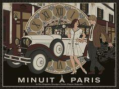 Minuit a Paris (Midnight in Paris) - movie poster - Anthony Petrie Paris Illustration, Fashion Illustration Sketches, Woody Allen, Midnight In Paris, Paris Movie, Cinema Posters, Movie Posters, Paris Poster, Paris Art