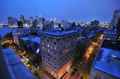 NYC winter sundown (handheld HDR)