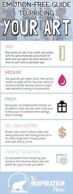 A behind-the-scenes look at how artists price their work, and some clear guidelines to get you started with pricing your own Craft Business, Creative Business, Business Tips, Business Launch, Business Articles, Business Marketing, Just In Case, Just For You, Sell My Art