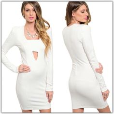 Long Sleeve Bodycon With Cut Out