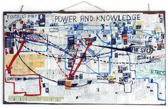 Thomas Hirschhorn, Foucault Map (2004)