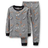 Advice: For child's safety, cotton pjs should always fit snuggly. Spooky eyes peep out from these glow-in-the-dark Halloween pajamas.
