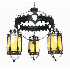 2nd Ave Design Valhalla 3 Light Drum Chandelier Finish: Chestnut