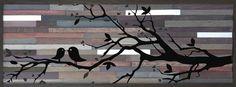 Reclaimed Wood Wall Art 17.5 x 47