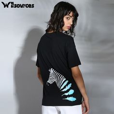 >> Click to Buy << Witsources women cute zebra print t shirts summer new short sleeve loose casual student casual tops t-shirts ST2690 #Affiliate