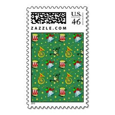 Christmas – French Horns & Magenta Drums Stamps
