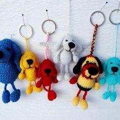 Häkelanleitung Schlüsselanhänger Hund