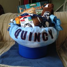Baby Boy Bucket - baby shower gift - Fall 2015