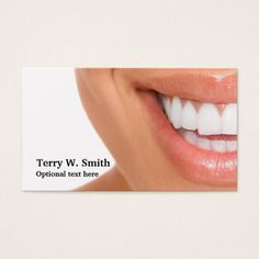 Dentist Hygienist Smile Business Cards