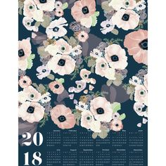 Khristian Howell 2018 Une Femme Canvas Wall Calendar Navy And Blush By (249.165 COP) ❤ liked on Polyvore featuring home, home decor, office accessories and office supplies