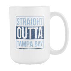 Straight Outta Tampa Bay Baseball Coffee Mug, 15 Ounce