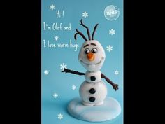 How to make Frozen's Olaf out of fondant - YouTube - by Happy Little Baker
