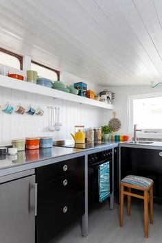 Check out dish towel for printing ideas. Scandinavian Kitchen by Chris Snook