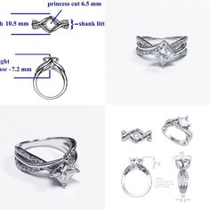 Here's one of our most recent custom designed engagement rings. See how it went from a hand drawn rendering to a CAD computer rendering to the finished piece! If you've been dreaming of a custom ring, let us help you make it a reality! We make it so fun and easy!!