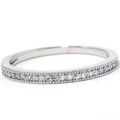 Ladies .25CT Round Brilliant Cut Diamond Ring Solid 14K White Gold Wedding Band: Jewelry: Amazon.com $179--pompeii3
