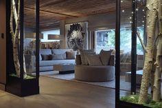 luxury chalet -megeve -salon - sofa - canapé -living room -photo rody oneprod