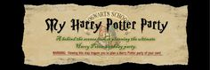 My Harry Potter Party - absolutely amazing blog full of a zillion great ideas