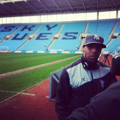Marlon King talking to Blues TV after the 1-1 draw at Coventry City. March 2012.