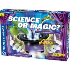 Science or Magic Physics Tricks Science Kit - Educational Toys Planet. Great gift for 7 years old child. Perform tricks with physics and find the scientific explanation behind these amazing Science or Magic tricks.  Develops Skills - science, physics, experimental skills, thinking skills, performing skills. #toys #learning #educational #gifts #child https://www.educationaltoysplanet.com/science-or-magic-physics-tricks-science-kit.html
