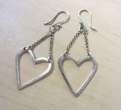 Handmade Heart Earrings by ChrissyGemmillJewels on Etsy, $56.00
