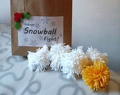 Indoor Snowball Fight in a Bag