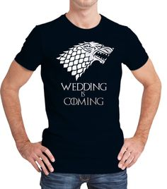 Game of Thrones stark  inspired groom T-shirt with text WEDDING IS COMING. by iganiDesign on Etsy