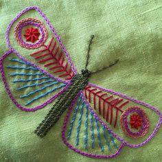 "147 Me gusta, 6 comentarios - Nancy Nicholson (@nancynicholsondesign) en Instagram: ""Finished butterfly #handembroidery #embroidery #butterflies"""