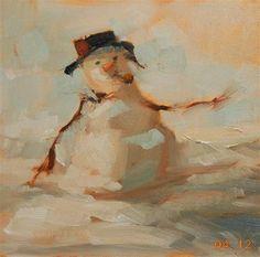 """""""The Rare Snowman"""" - Original Fine Art for Sale - © Brande Arno"""