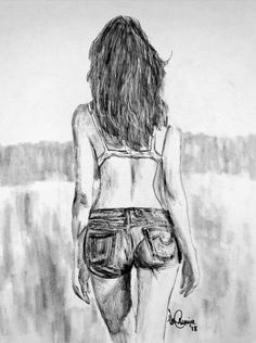 The Farmer's Daughter Drawing by Vernon Crumrine Pencil Drawings Of Girls, Pencil Drawing Tutorials, Sexy Drawings, Art Drawings Sketches, Drawing Ideas, Figure Sketching, Figure Drawing, Simbolos Star Wars, Drawing People