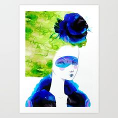 The breeze Art Print by Elena Mir | Society6