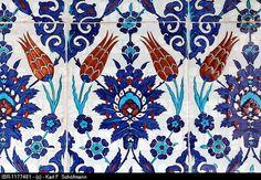 Turkish tiles with tulip motif