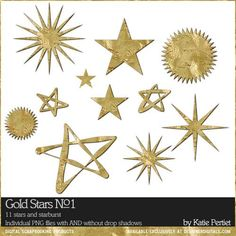 Gold Stars No. 01 by Katie Pertiet at Designer Digitals