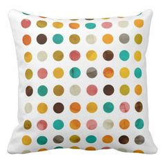 Autumnal polka dots pillow by cafelab