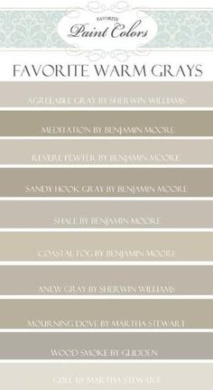 Warm gray paint colors Ben Moore 861 shale gray