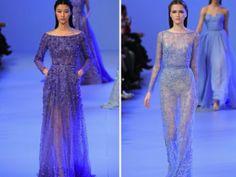 Elie Saab Bridal Couture, Jordan Payne Events, 2014 Bridal Trends, Purple Bridal Gown, Light Blue Bridal Gown, Haute Couture Bridal