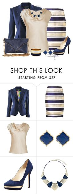 """""""Navy Stripes"""" by ccroquer ❤ liked on Polyvore featuring Ralph Lauren, By Malene Birger, L.K.Bennett, Jimmy Choo, Dorothy Perkins, Vince Camuto and J.J. Winters"""