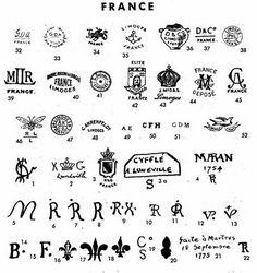 Marks france porcelain list limoges How to