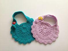 How to crochet baby bib motif 2 https://www.youtube.com/watch?v=HfLoYR7ducc