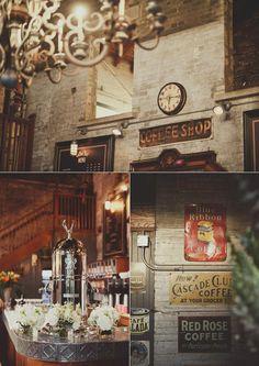 Chic coffee shop wedding #Toronto (Images by Mango Studios)