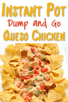 Instant Pot Queso Chicken—an easy 6 ingredient dump and go chicken recipe that is cheesy and creamy and addicting! #instantpot Duck Recipes, Mexican Food Recipes, Crockpot Recipes, Chicken Recipes, Cooking Recipes, Instant Pot Pressure Cooker, Pressure Cooker Recipes, Pressure Cooking, Slow Cooker