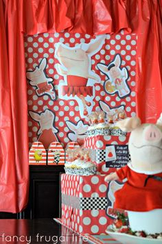 Budget Friendly Olivia the Pig Birthday Party - Kara's Party Ideas - The Place for All Things Party