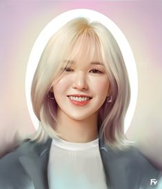Japanese Drawings, Asian Art, Kpop Girls, Red Velvet, Culture, Long Hair Styles, Portrait, Beauty, Fanart