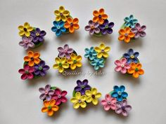 Quilling by Ada: 8 Martie Quilling Flowers Tutorial, Paper Quilling Flowers, Paper Quilling Designs, Quilling Paper Craft, Quilling Patterns, Paper Crafts, Neli Quilling, Quilling Dolls, Paper Quilling Earrings