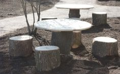 Just sit and have lunch in the out doors on logs fun.