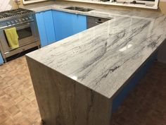 River White Granite Kitchen Benchtop Install