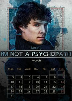 March: Benedict Cumberbatch as Sherlock Holmes in Sherlock. | The Gorgeous 2014 Calendar That Every Nerd Needs In Their Life
